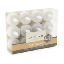 12pk Matchless Candle Co. LED Basics Flameless Flicker Tealights with Batteries