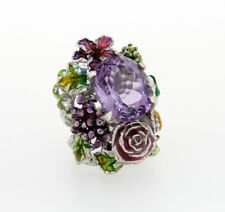 Amethyst and 925 Sterling Silver Ring