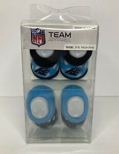 NFL Apparel Carolina Panthers Baby Booties Size 3-6 Months
