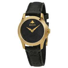 Gucci G-Timeless Black Dial Mens Leather Watch YA126581