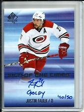 Justin Faulk 15/16 SP Authentic Sign of the Times Autograph #40/50