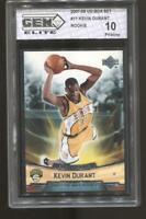 2007-08 Kevin Durant Upper Deck Box Set #11 Gem Elite 10 Pristine RC Nets