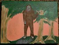 Bigfoot Sasquatch original painting canvas artwork cryptozoology