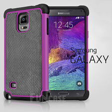 Black Rugged Rubber Matte Hard Shell Durable Case Cover For Samsung Note 3 4