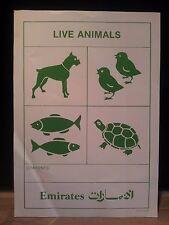 """Emirates-adesivi/adhesive label - """"Live Animals"""""""