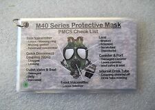 M40/M42 Gas/Field Mask PMCS Instructions Laminated Cards M40A1 ~ FREE SHIPPING