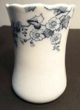 Antique Ironstone Spooner or Vase Blue Transferware Cherry Blossom