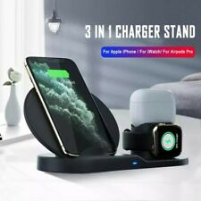 3 in 1 Wireless Charger Fast Charging Dock Station For iPhone Apple Watch Airpod