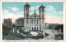 Postcard Canada St Johns Newfoundland Roman Catholic Cathedral Corpus Christi