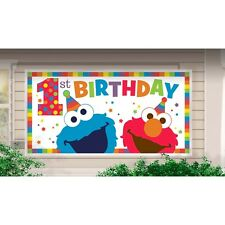 Elmo Turns One Sesame Street Giant First 1st Birthday Party Banner Decoration