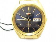 """MENS NOS AUTHENTIC """"ORIENT"""" 3 STAR CRYSTAL 21 JEWELS AUTOMATIC WRIST WATCH"""