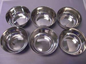 Stainless Steel katori Multipurpose BOWL Soup Desert Vegetable utensis 6 PC SET