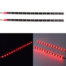 2x 30cm 5050 12LED Flexible LED Strip Light Waterproof DIY Auto Car Decor Red