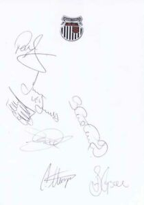 Grimsby Town FC - Signed Team Sheet - COA (14936)