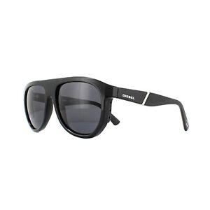 Diesel Sunglasses DL0255 01A Shiny Black Gray