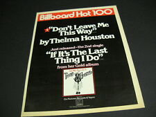 THELMA HOUSTON Don't Leave Me This Way & If It's The Lat Thing.. 1977 PROMO AD