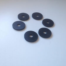 6 X RUBBER GUITAR STRAP LOCK WASHERS 3 PAIRS