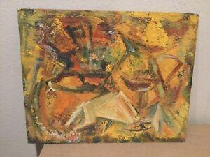 Vintage Abstract Still Life Painting Signed -  Hans Hofmann