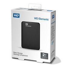 "Western Digital 2.5"" Elements 2TB USB 3.0 Hard disk esterni WD External Portable"