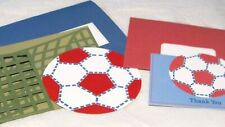 Eight POTTERY BARN Soccer Birthday Party Invitations & Thank You Cards Children