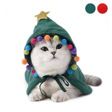 Christmas Halloween Polar Fleece Cloak Funny Leisure Lace Up Cat Clothes