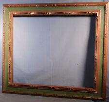 Vintage Spanish Revival baroque Cassetta Carved Gilt Wood Picture Frame 20x24