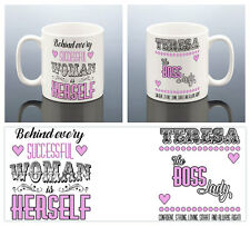 BOSS LADY MUG Birthday Gift for Her Success Cup  Women Ladies Business Friend