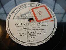 GRACIA DE TRIANA copla en noche / paquiro - 78 rpm la voz de su amo white label