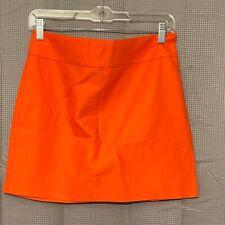 J.Crew Double Surge Ultra Mini Skirt Size 2 Orange