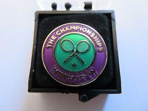 WIMBLEDON THE CHAMPIONSHIPS TENNIS BOXED BADGE