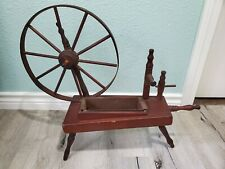 Vintage Spinning Sewing Spindle Wheel Wood Primitive Rustic Decor Plant Stand