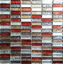 Glass Hong Kong Autumn Brick Bathroom Kitchen Mosaic Wall Tiles Sheet MT0006