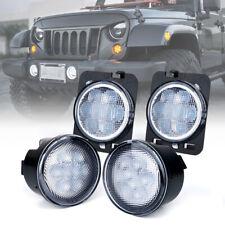 New listing Xprite Led Turn Signal & Fender Side Light Clear Lens for 07-18 Jeep Wrangler