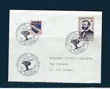 FRd enveloppe sport  MJC exposition philatélique  ski  84 Avignon  1969