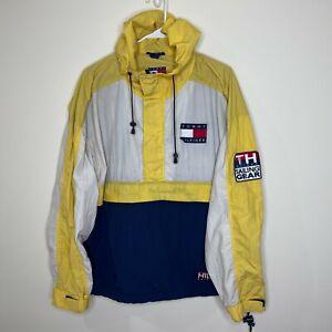 VTG 90s Tommy Hilfiger Sailing Gear Pullover Jacket Windbreaker Color Block L