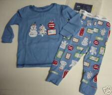 NWT BABY GAP BLUE GIFT TAG 2 PC PAJAMAS PJ'S 3-6 MONTHS  Free US Shipping