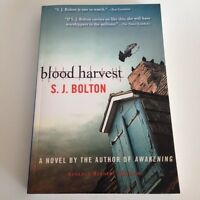 S. J. Bolton BLOOD HARVEST 2010 Advance Readers' Edition (ARC) Trade PB LIKE NEW