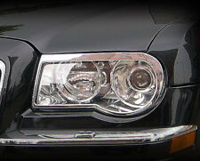 Chrysler 300C 2005 2006 2007 Head Light Headlight Chrome Trim Set (trims only)