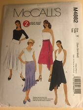 McCall's M4882 2 Hour Skirt Pattern Size Y Xsm-Sm-med Uncut