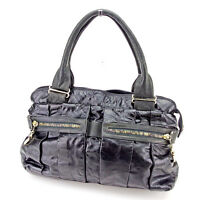 Chloe Tote bag Black Grey Woman Authentic Used T2317