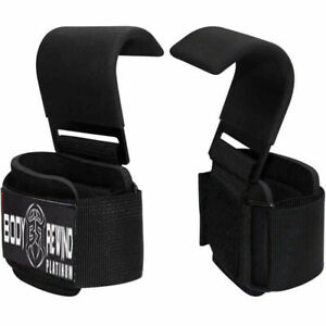 New Heavy-Duty WEIGHT LIFTING HOOKS for Grip DEADLIFT STRAPS Gym Power Wrist Sup