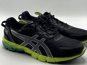 ASICS Mens Gel-Quantum 90 Black Green Running Shoes Size 12 1201A064-008