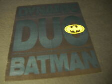 BATMAN Dynamic Duo 1989 Promo Display Ad for the motion picture soundtrack MINT