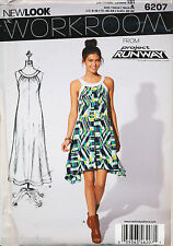 NEW LOOK SEWING PATTERN 6207 MISSES SZ 6-16 LOOSE-FITTING SWING DRESS & MAXI