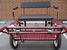"""Horse Carriage, 2 Wheel Buggy, 49"""" Wide Wheel Size 25"""" Burgundy"""