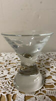 Beautiful Vintage Heavy Weight Etched Goose Shot Glass