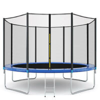 NEW 12/10/6 FT Kids Trampoline w/Enclosure Net Jumping Mat&Spring Cover Padding