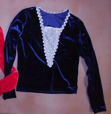 NWT Velvet w/Silver Long Sleeve Ballet pullover Dance Red Navy boys Mens stretch