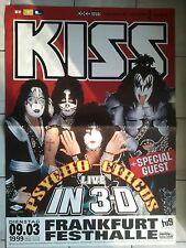 KISS 1999 Francoforte ORIG. CONCERT POSTER -- concerto MANIFESTO a0