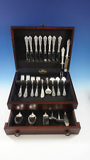 Rose Point by Wallace Sterling Silver Flatware Set For 8 Service 56 Pieces